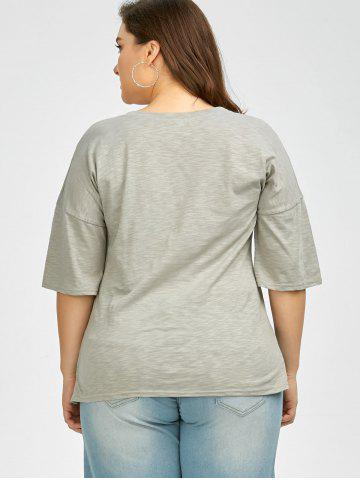 Hot Plus Size Love Graphic T-Shirt - 3XL GRAY Mobile