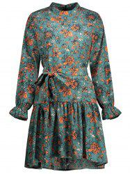 Long Sleeve Floral Plus Size Dress