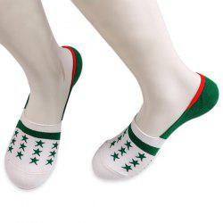 Knited Stars Embellished Loafer Socks