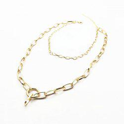 Circle Layered Chain Necklace