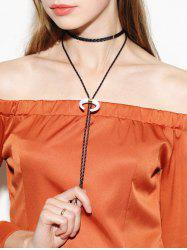 Moon Braid Bolo Tie Choker Necklace