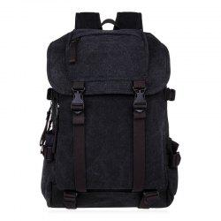 Casual Straps Detail Canvas Backpack