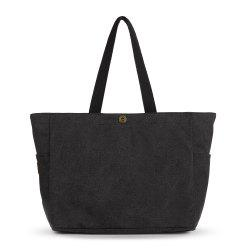 Side Pockets Canvas Shopper Bag