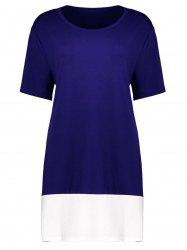 Plus Size Colorblock Mini T-Shirt Dress