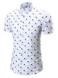 Square Print Short Sleeve Shirt