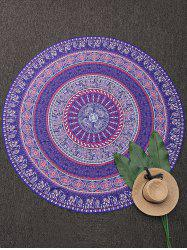 Print Round Beach Throw Cover - COLORMIX ONE SIZE