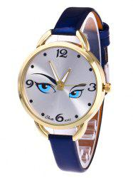YBOTTI Faux Leather Band Watch with Pretty Glance