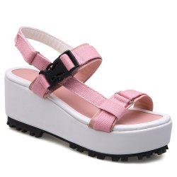 Plastic Buckle Platform Sandals