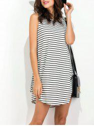 Summer Striped Shift Tank Dress