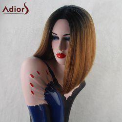 Adiors Medium Straight Middle Part Bob Gradient Synthetic Wig