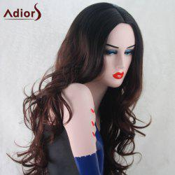 Adiors Wavy Middle Part Synthetic Long Wig -