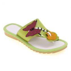 Butterfly Flat Heel Slippers