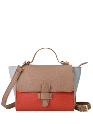Winged Color Block Handbag