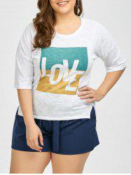 Plus Size Love Graphic T-Shirt -