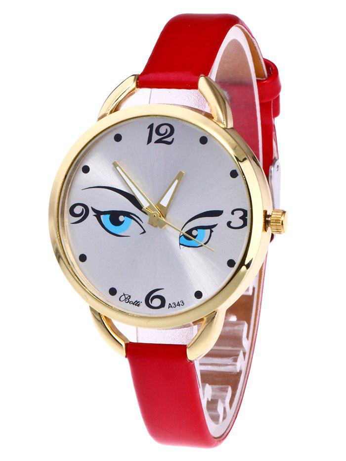 Buy YBOTTI Faux Leather Band Watch with Pretty Glance