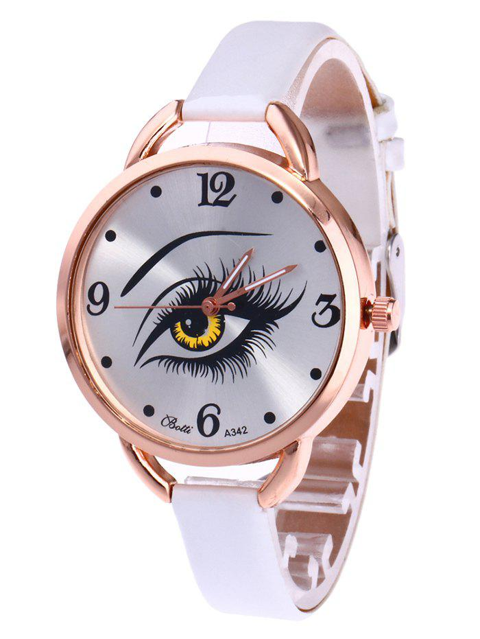 Outfits YBOTTI Faux Leather Quartz Watch with Beauty Eye