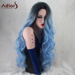 Adiors Long Wavy Ombre Middle Part Capless Synthetic Wig