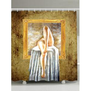 Art Painting Bath Decor Fabric Shower Curtain