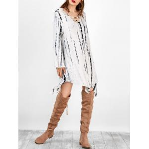 Bell Sleeve Asymmetric Casual T Shirt Dress