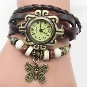 Faux Leather Strap Analog Vintage Bracelet Watch