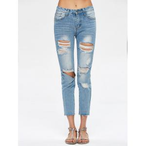 Détruits Pantacourt Jeans -