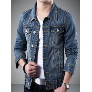 Collier Turndown poches design Veste en jean -