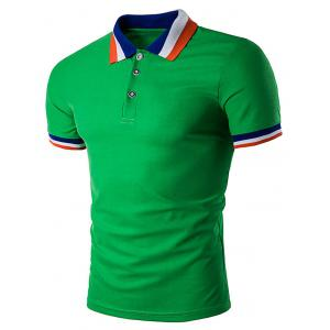 Color Block Collar Polo T-Shirt