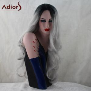 Adiors Long Middle Part Colormix Fluffy Wavy Synthetic Wig