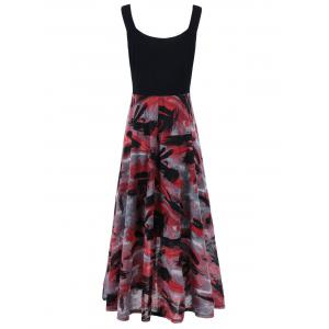 Plus Size Tie Dye Midi Casual Flower Dress -