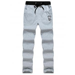 Casual Drawstring Graphic Sweatpants