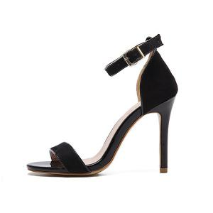 Ankle Strap Stiletto Heel Sandals -