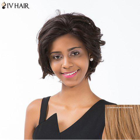 Shop Siv Hair Short Layered Cut Curly Lace Front Human Hair Wig - BLONDE WITH AUBURN BROWN  Mobile