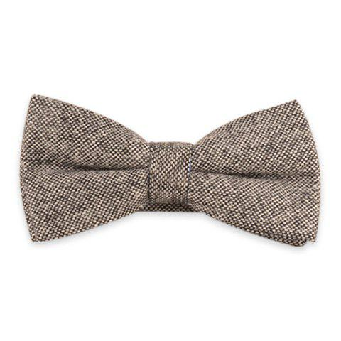 Woolen Blend Formal Bow Tie - Gray