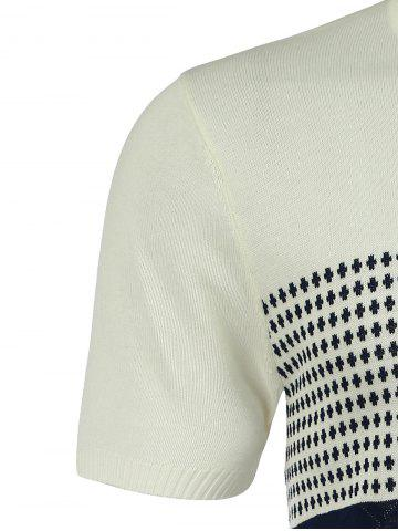 Affordable Graphic Crew Neck Short Sleeve Jumper - 2XL MILK WHITE Mobile