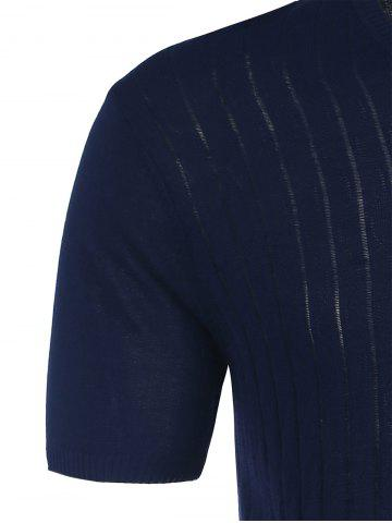 Latest V Neck Short Sleeve Jumper - 2XL CERULEAN Mobile