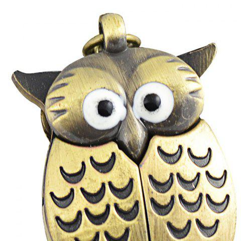 Discount Owl Pendant Number Pocket Watch - BRONZED  Mobile