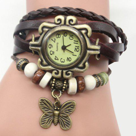 New Faux Leather Strap Analog Vintage Bracelet Watch