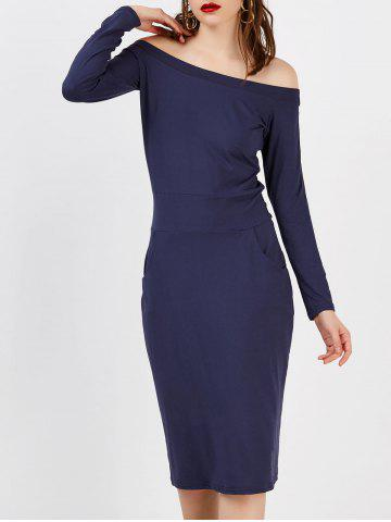 Trendy Long Sleeve Off The Shoulder Fitted Dress