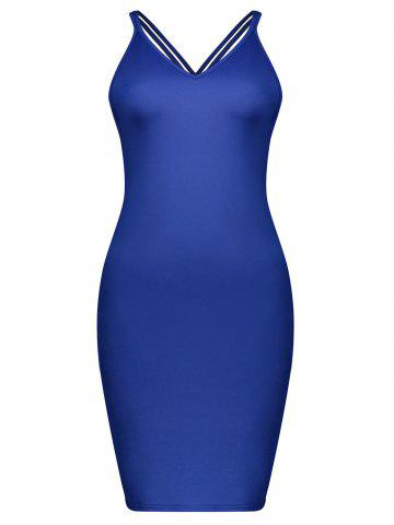 Discount Criss Cross Strappy Bodycon Mini Dress