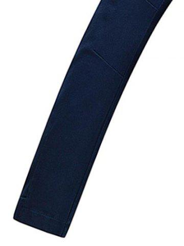 New Stand Collar Zippered Jacket - L CERULEAN Mobile