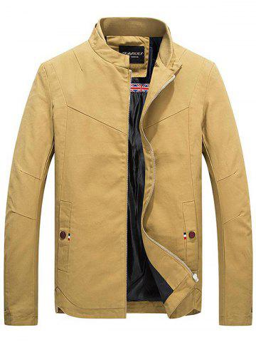 Outfit Stand Collar Zippered Jacket - L EARTHY Mobile