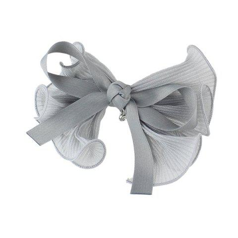 Affordable Rhinestone Bows Hairgrip - GRAY  Mobile