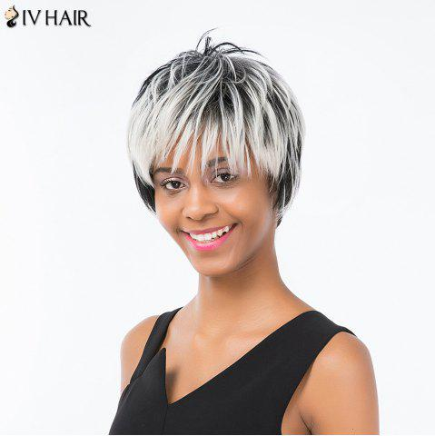 Store Siv Hair Pixie Colormix Short Side Bang Straight Layered Human Hair Wig - COLORMIX  Mobile