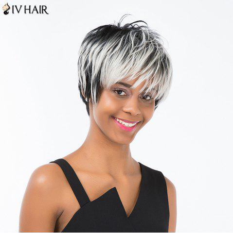 Buy Siv Hair Pixie Colormix Short Side Bang Straight Layered Human Hair Wig - COLORMIX  Mobile