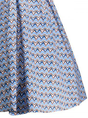 Outfit Vintage Bowknot Embellished A Line Dress - M WINDSOR BLUE Mobile