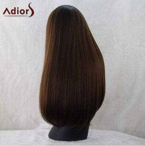 Shops Adiors Silky Straight Long Neat Bang Synthetic Wig - BLACK BROWN  Mobile
