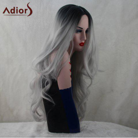 Shops Adiors Long Middle Part Colormix Fluffy Wavy Synthetic Wig - COLORMIX  Mobile