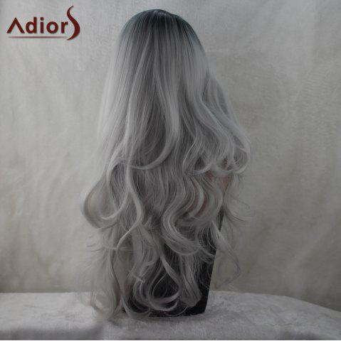 New Adiors Long Middle Part Colormix Fluffy Wavy Synthetic Wig - COLORMIX  Mobile