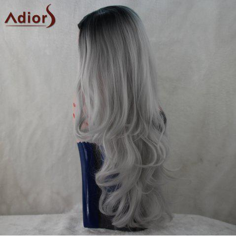 Outfit Adiors Long Middle Part Colormix Fluffy Wavy Synthetic Wig - COLORMIX  Mobile