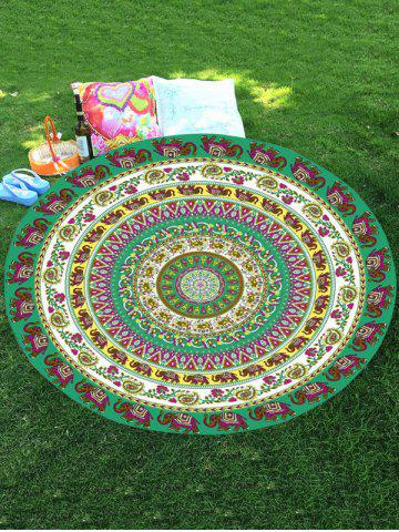 Best Thailand Elephant Mandala Round Chiffon Beach Throw - COLORMIX  Mobile